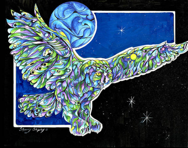 Painting - Once In A Blue Moon by Sherry Shipley