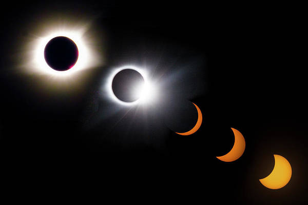 Photograph - Once In A Lifetime Stages Of A Total Solar Eclipse II by Debra and Dave Vanderlaan