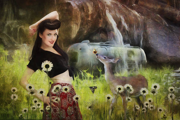 Bambi Mixed Media - Once Upon A Meadow by Terry Fleckney