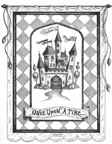 Castle Drawing - Once Upon A Time by Adam Zebediah Joseph