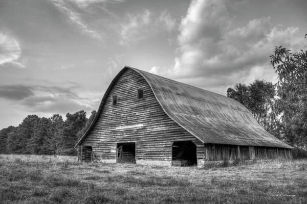 Photograph - Once Upon A Time B W The Barn Philomath Georgia Art by Reid Callaway