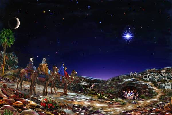 Star Of Bethlehem Painting - Once Upon A Time  - Christmas Time by Gabriel Morales
