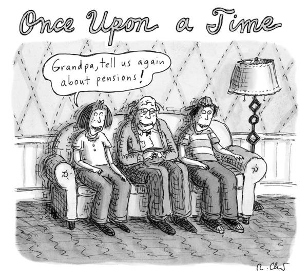 Couch Drawing - Once Upon A Time by Roz Chast