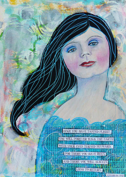 Pretty Mixed Media - Once You Have Tasted Flight by Lynn Colwell