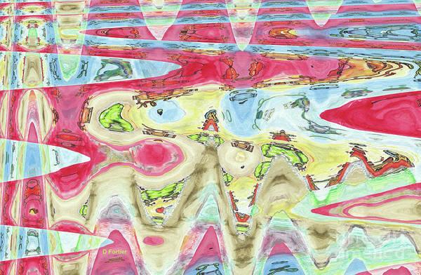Disintegration Painting - Ondes De Choc / Shock Waves by Dominique Fortier