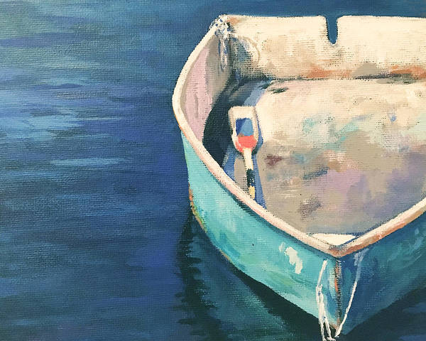 Wall Art - Painting - One Blue Dory by Leslie Alfred McGrath