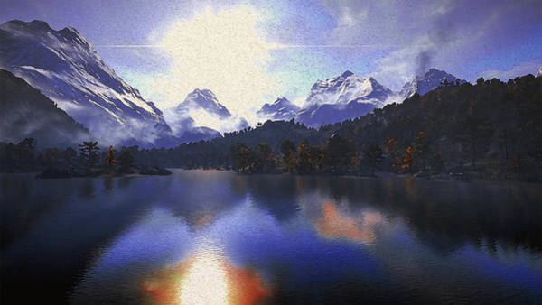 Painting - One Day At The Lake by Andrea Mazzocchetti