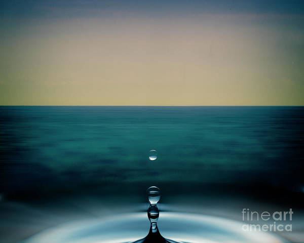 Digital Art - A Drop In The Ocean by Edmund Nagele