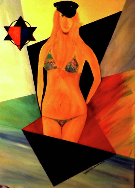 Painting - one eye in a Bikini by Joseph Coulombe