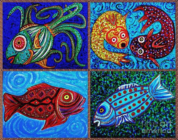 Classroom Painting - One Fish Two Fish by Sarah Loft