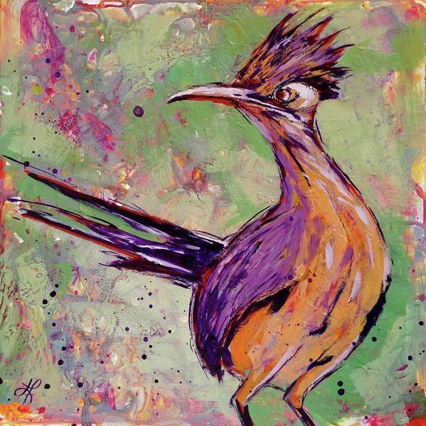 Roadrunner Painting - One For The Road by Lauren Florence