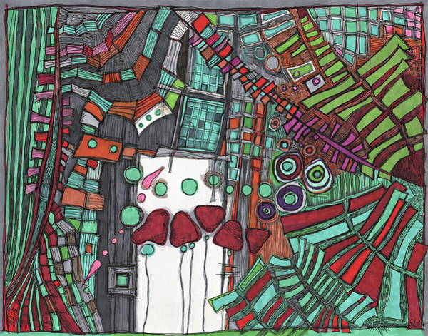 Semi Abstract Drawing - One For Timmy by Sandra Church