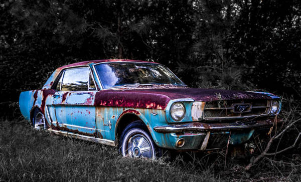 Down The Drain Wall Art - Photograph - One Hot Ride - 1965 Mustang by Alicia Collins