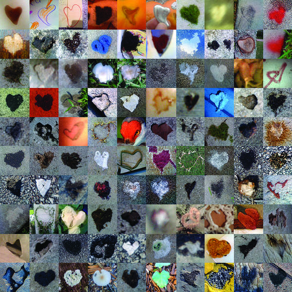 Mosaic Photograph - One Hundred And One Hearts by Boy Sees Hearts