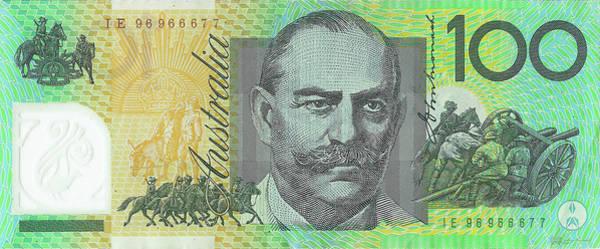 Digital Art - One Hundred Australian Dollar Bill by Serge Averbukh