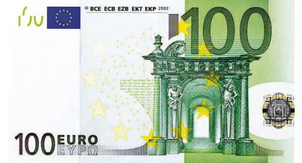 Digital Art - One Hundred Euro Bill by Serge Averbukh