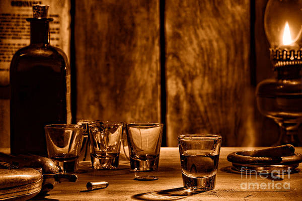 Wall Art - Photograph - One Last Drink - Sepia by Olivier Le Queinec
