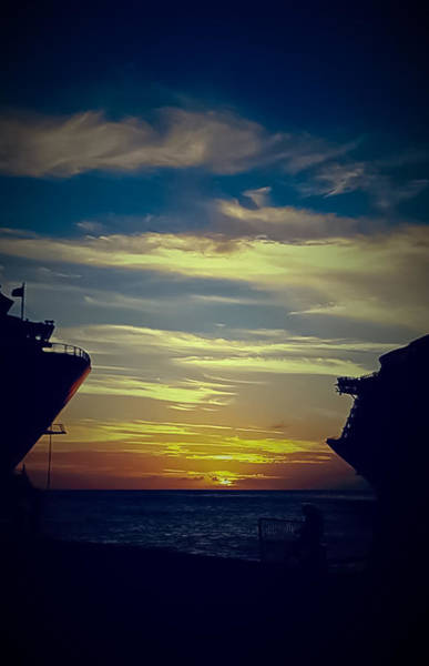 St. Maarten Photograph - One Last Glimpse by DigiArt Diaries by Vicky B Fuller