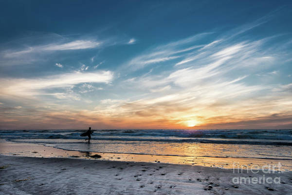 Photograph - One Last Surf At Solana Beach by David Levin