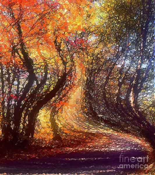 Digital Art - One Less Traveled... by Arthur Miller