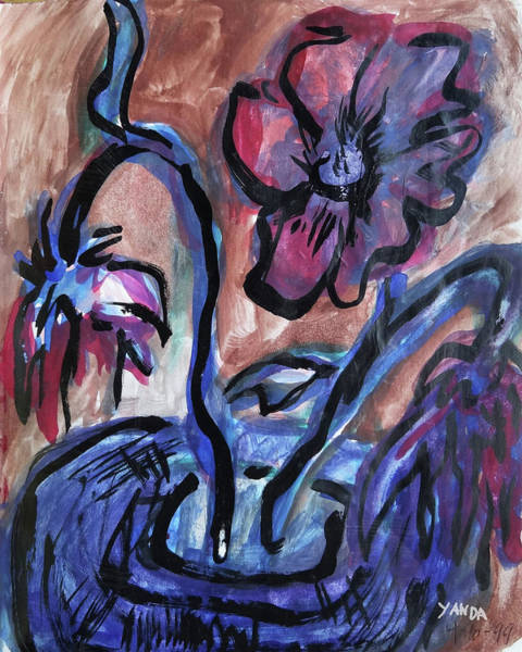 Mixed Media - One Living Bloom by Katt Yanda