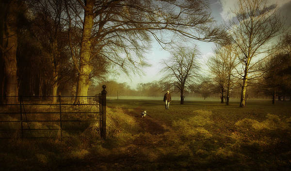 Dog Walker Photograph - One Man And His Dog by Janet Meehan