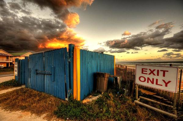 Flagler Beach Photograph - One Man's Trash....... by Andrew Armstrong  -  Mad Lab Images