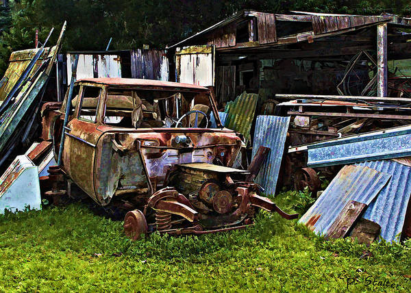 Scrap Iron Digital Art - One Mans Trash by Patricia Stalter