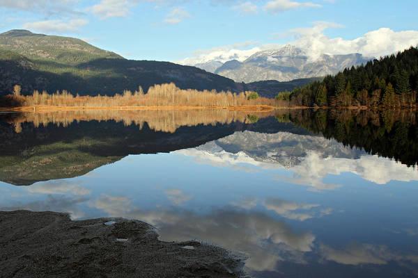Pemberton Photograph - One Mile Lake Reflection Pemberton B.c Canada by Pierre Leclerc Photography