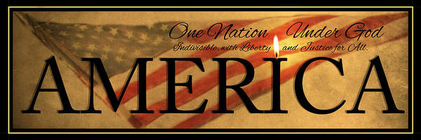 Photograph - One Nation by Robin-Lee Vieira