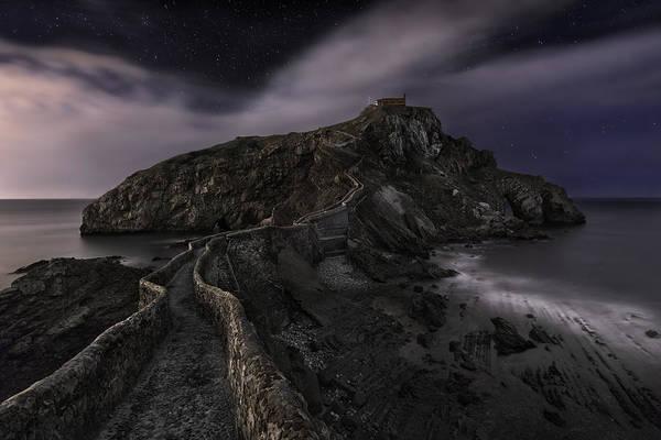 Houses Photograph - One Night In Gaztelugatxe by Fran Osuna