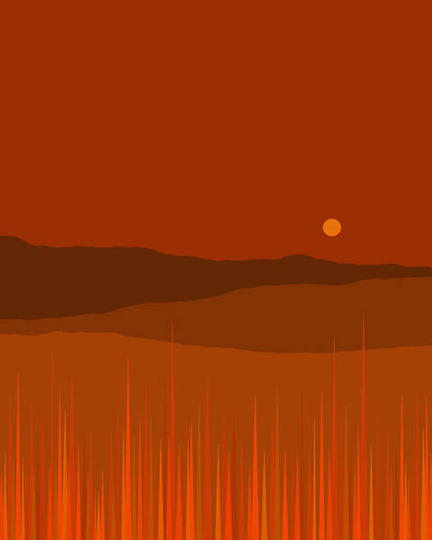 Digital Art - One October Evening by Val Arie