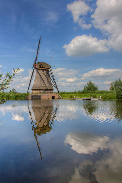 Photograph - One Of The Kinderdijk Windmills In Holland by Clare Bambers