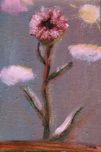 Painting - One Pink Flower by Katt Yanda