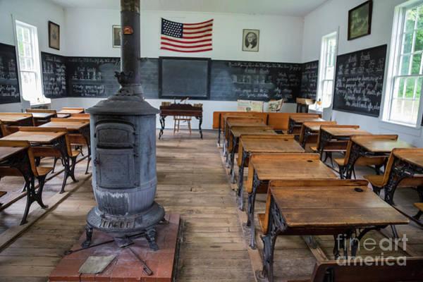 Pioneer School Photograph - One-room School by Jim West