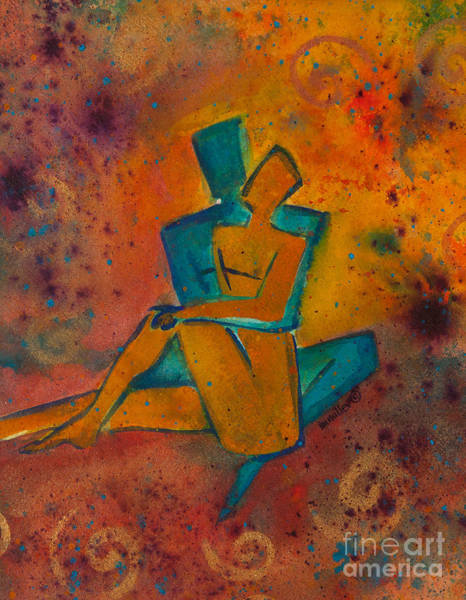 Lgbt Painting - One Soul Divine Love Series No. 1002 by Ilisa Millermoon