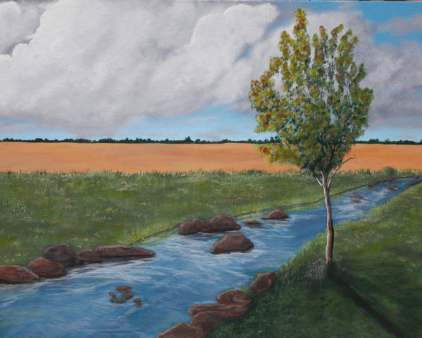 Wall Art - Painting - One Tree by Candace Shockley