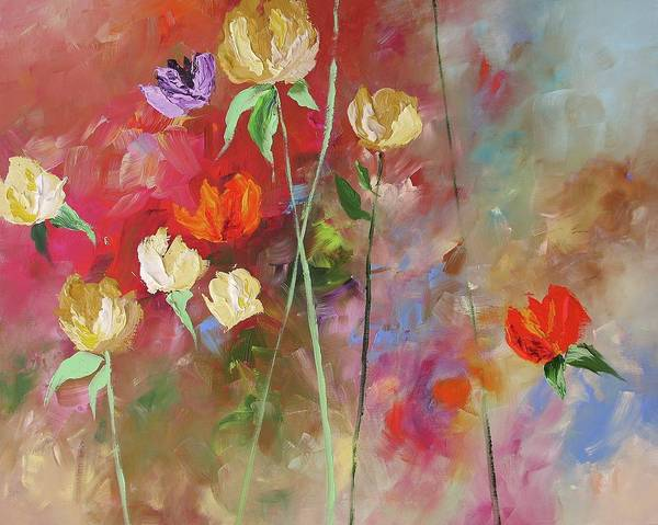 Fauve Painting - One Violet Rose by Linda Monfort