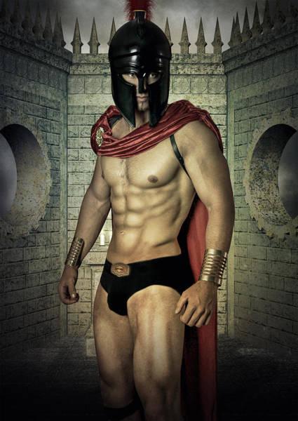Bodybuilder Digital Art - One Wall by Mark Ashkenazi