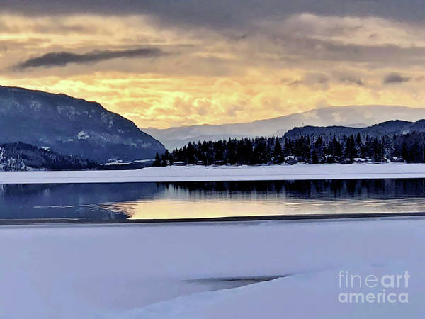 Photograph - One Winter Day By The Lake 4 by Victor K