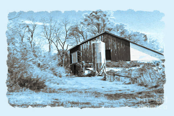 Pennsylvania Barn Photograph - One Winter's Day by Laura D Young