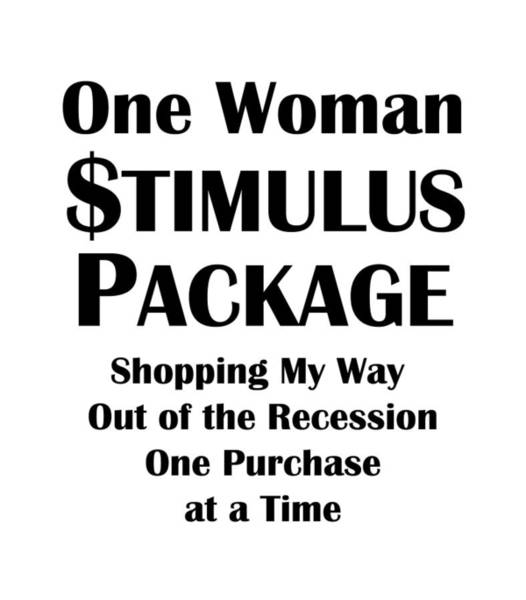 Wall Art - Digital Art - One Woman Stimulus Package by Antique Images