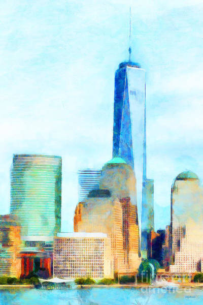 Photograph - One World Trade Center Lower Manhatten New York Skyline 20180506ver by Wingsdomain Art and Photography