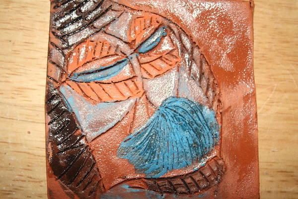 Ceramic Art - Onella - Tile by Gloria Ssali