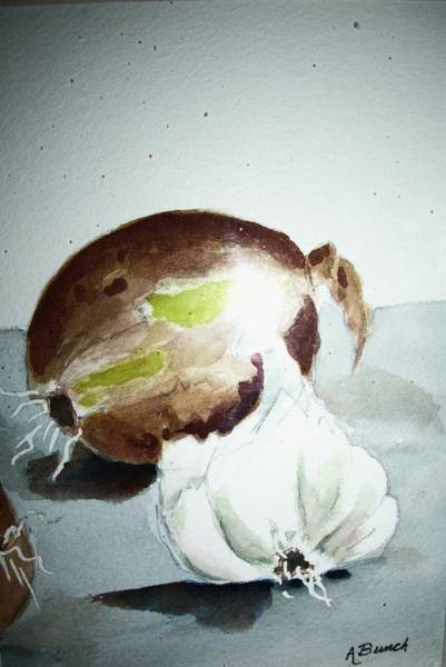 Painting - Onion And Garlic by Audrey Bunchkowski