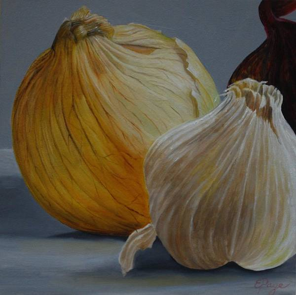 Painting - Onions And Garlic by Emily Page