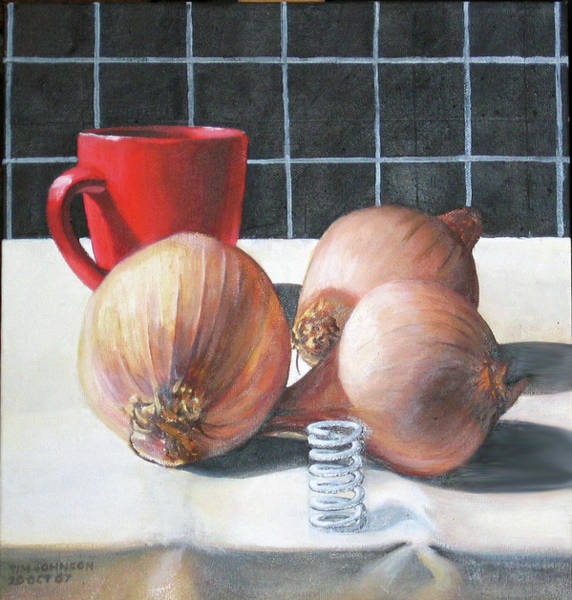 Painting - Onions by Tim Johnson