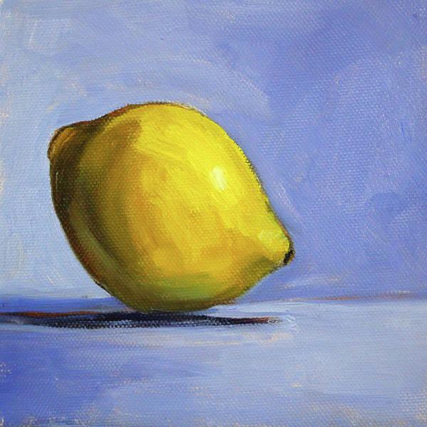Wall Art - Painting - Only A Lemon by Nancy Merkle