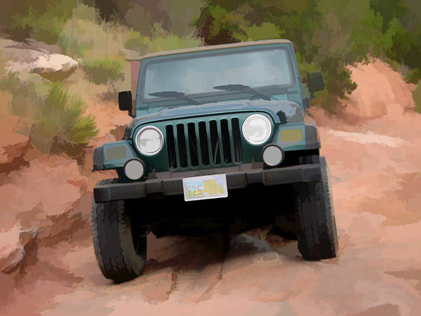 Digital Art - Only Jeeps Here by Gary Baird