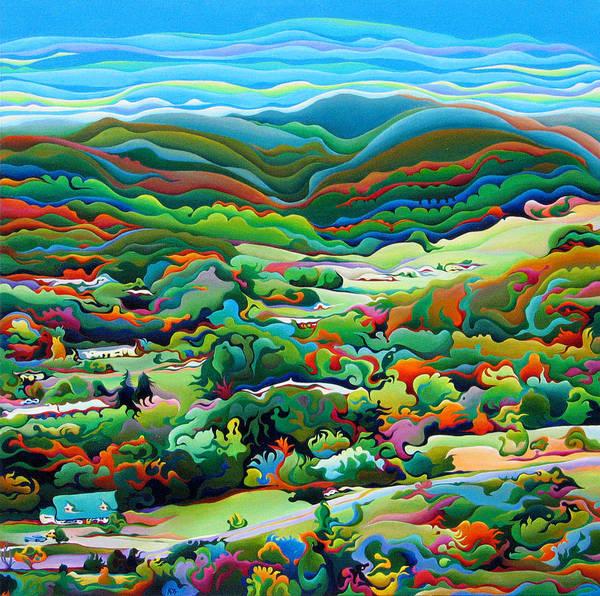 Onset Of The Appalachian Wonderfall Art Print